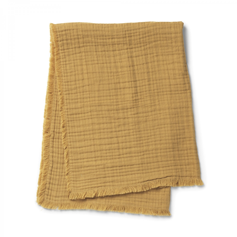 Elodie Details Elodie Details Decke aus weicher hydrophiler Baumwolle Gold 75x100cm