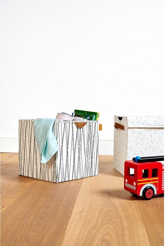 Lässig LÄSSIG 4kids Spielzeug Aufbewahrungsbox Allover Strahlen Quadrat