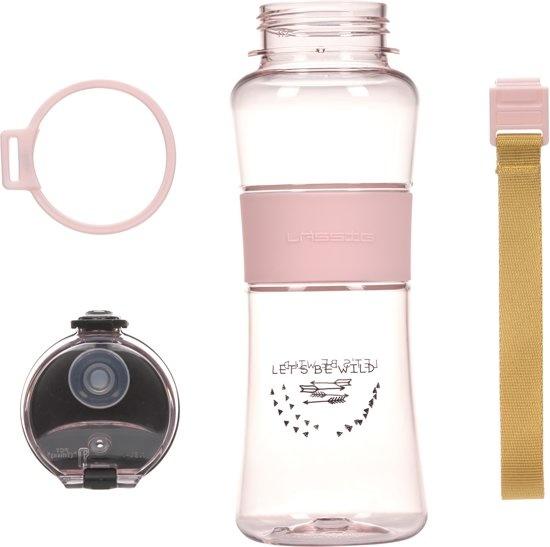 Lässig LÄSSIG drink fles adventure kids light pink