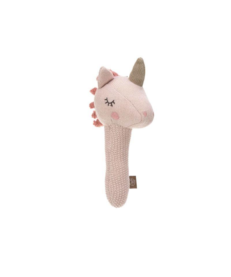 Lässig gebreid speeltje knuffel met rammelaar knetter More Magic Horse