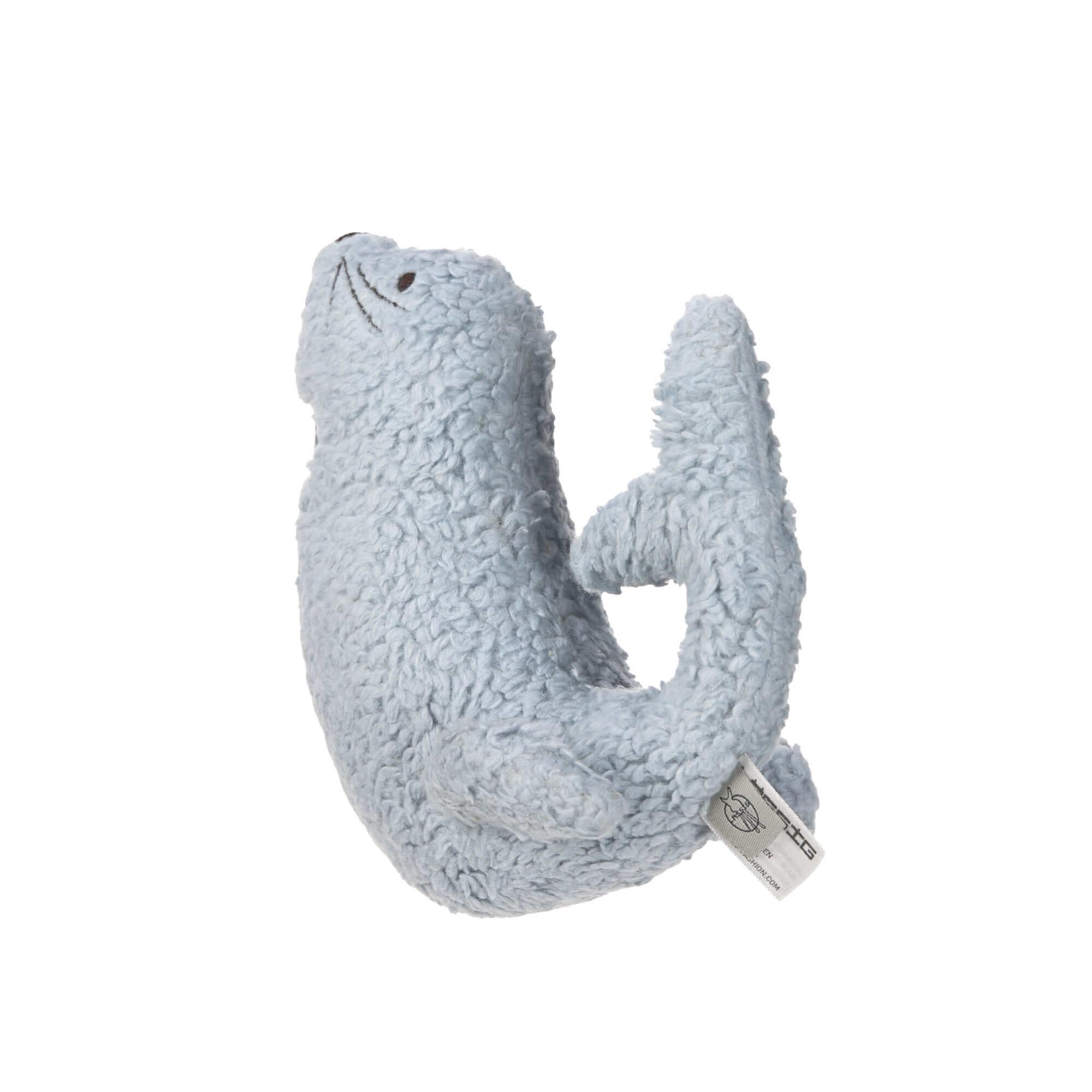 Lässig Lässig gebreid speeltje knuffel met rammelaar knetter More Magic Seal