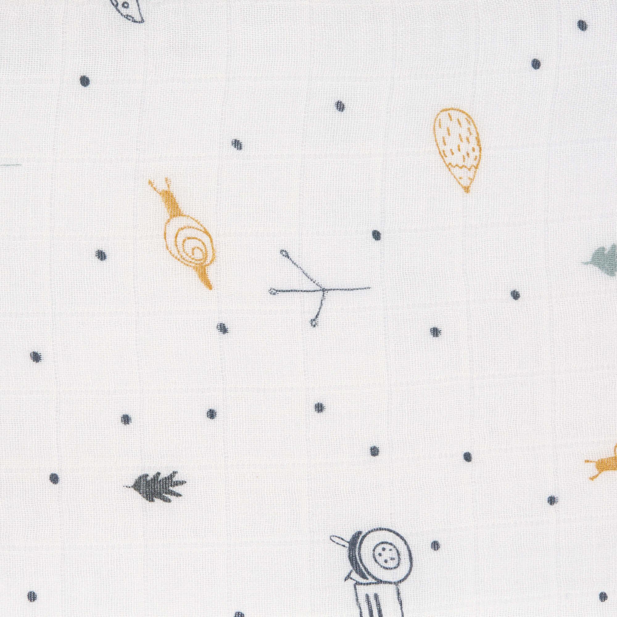 Lässig Lässig Himmlisch weiches Wickeltuch L Garden Explorer Jungen 3 Stück 80 x 80 cm Deckenlätzchen
