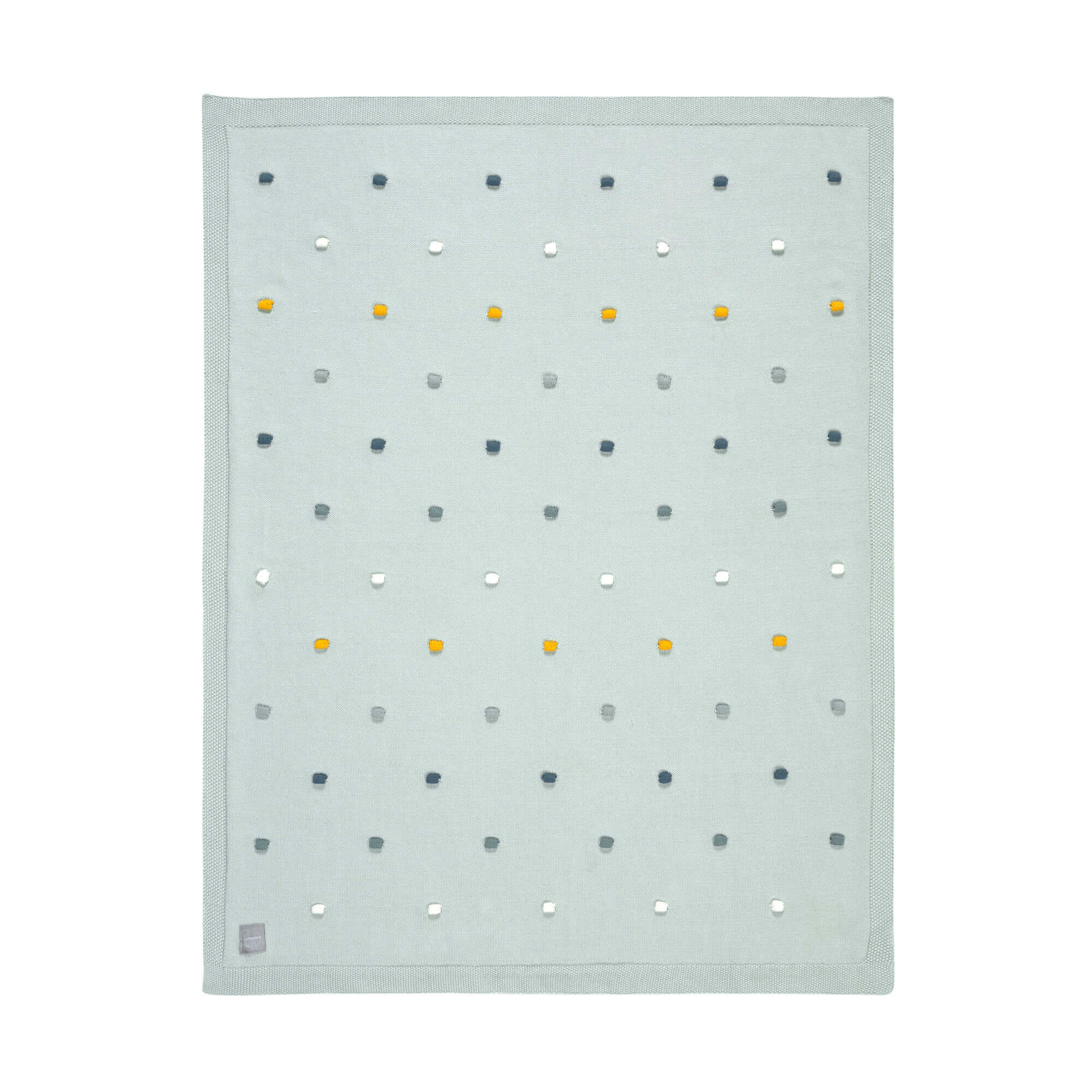 Lässig Lässig gebreide deken GOTS Dots light mint 80 x 110 cm