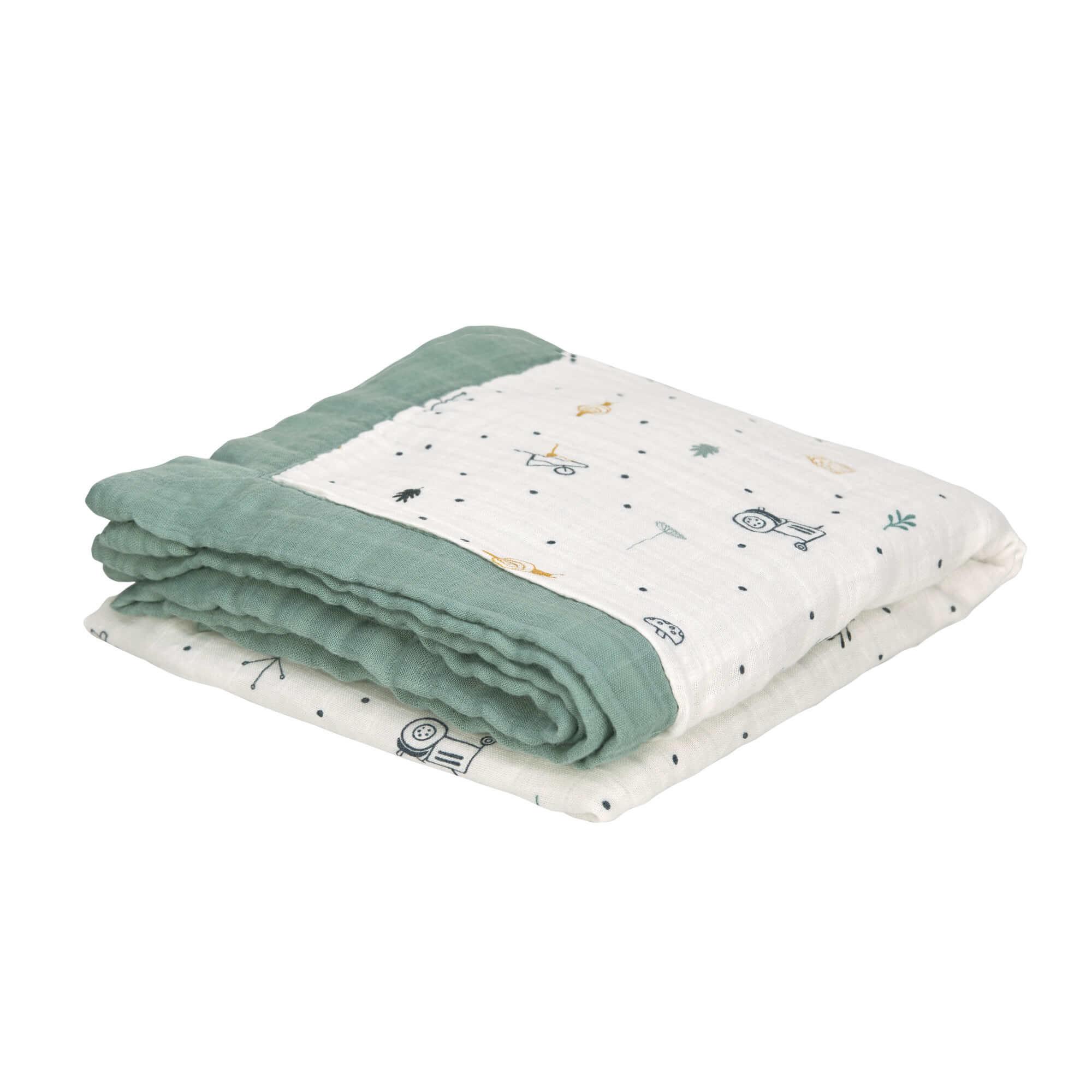 Lässig Lässig Heavenly Soft Blanket Garden Explorer Jungen 100 x 100 cm