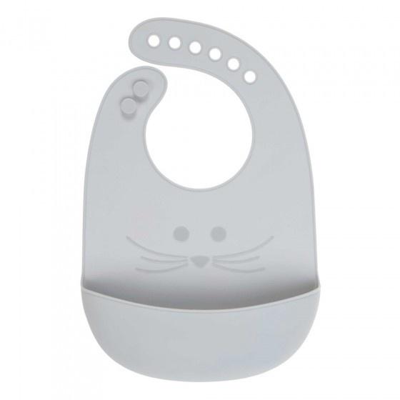 Lässig Lässig Silicone slabbetje Little Chums Mouse grey