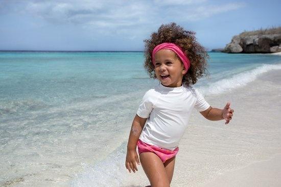 Lässig Lässig Splash & Fun Korte mouw Rashguard / zwemshirt - wit 6 maanden