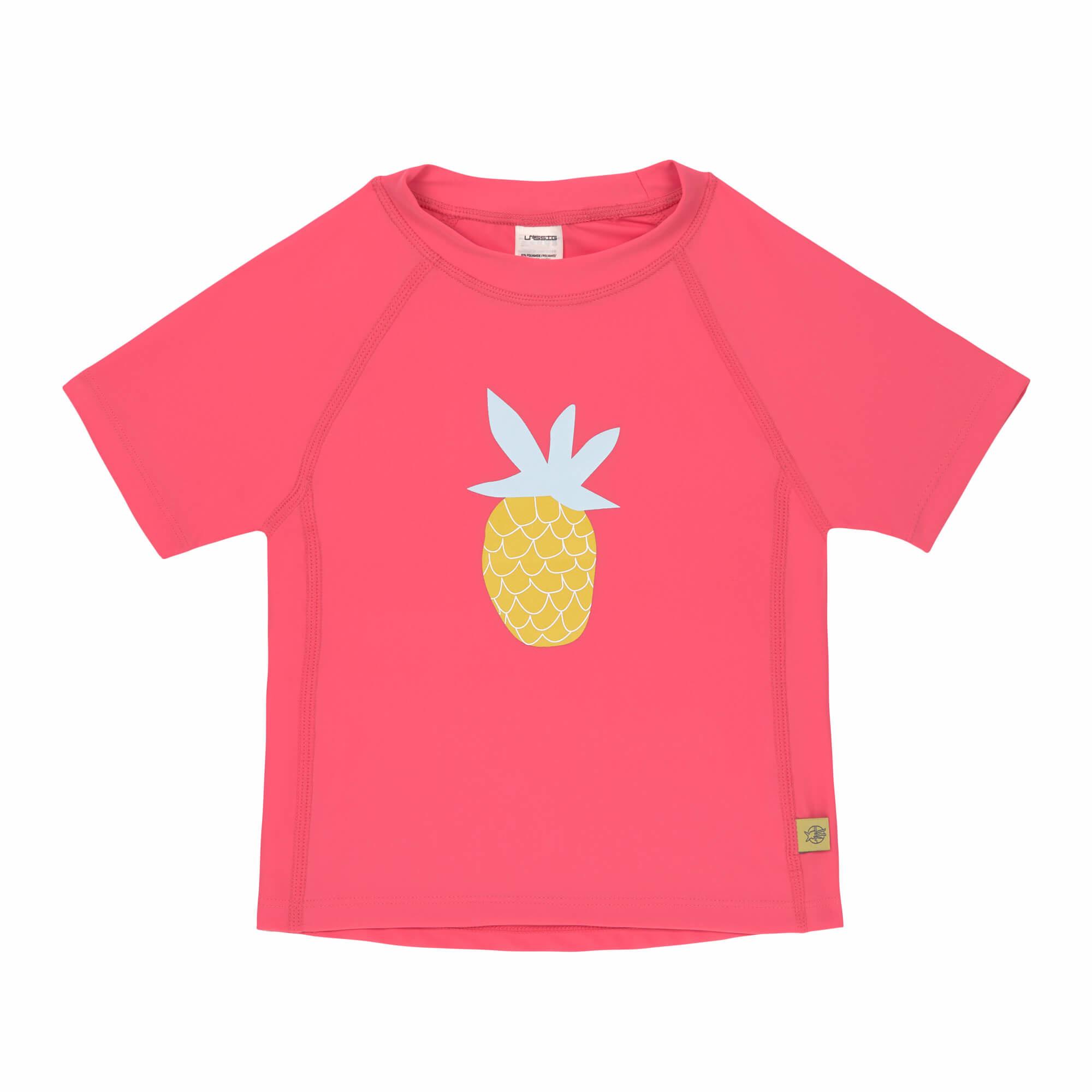 L�ssig L�ssig Splash & Fun Korte mouw Rashguard - zwemshirt - pineapple 12 maanden