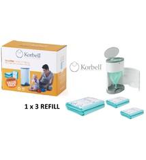 Korbell Korbell Windeleimer Nachfüllung - 15L Beutel - 1 x 3 Stück