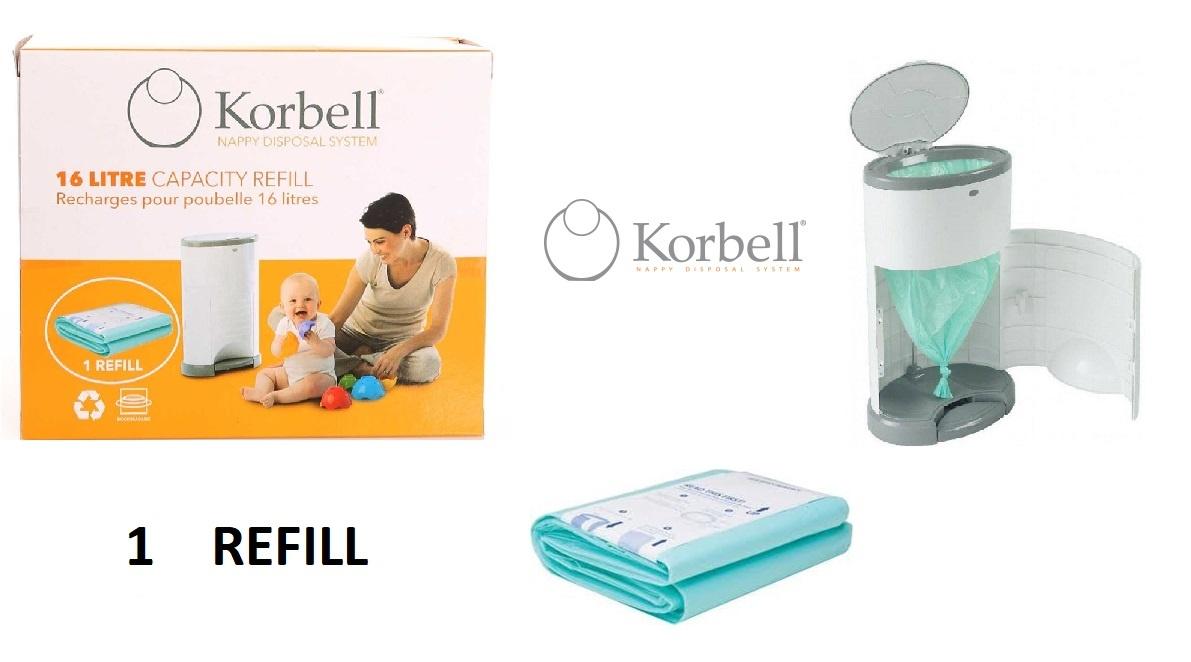 Korbell Korbell Luieremmer navulling - 15L zak - 1 st - single pack