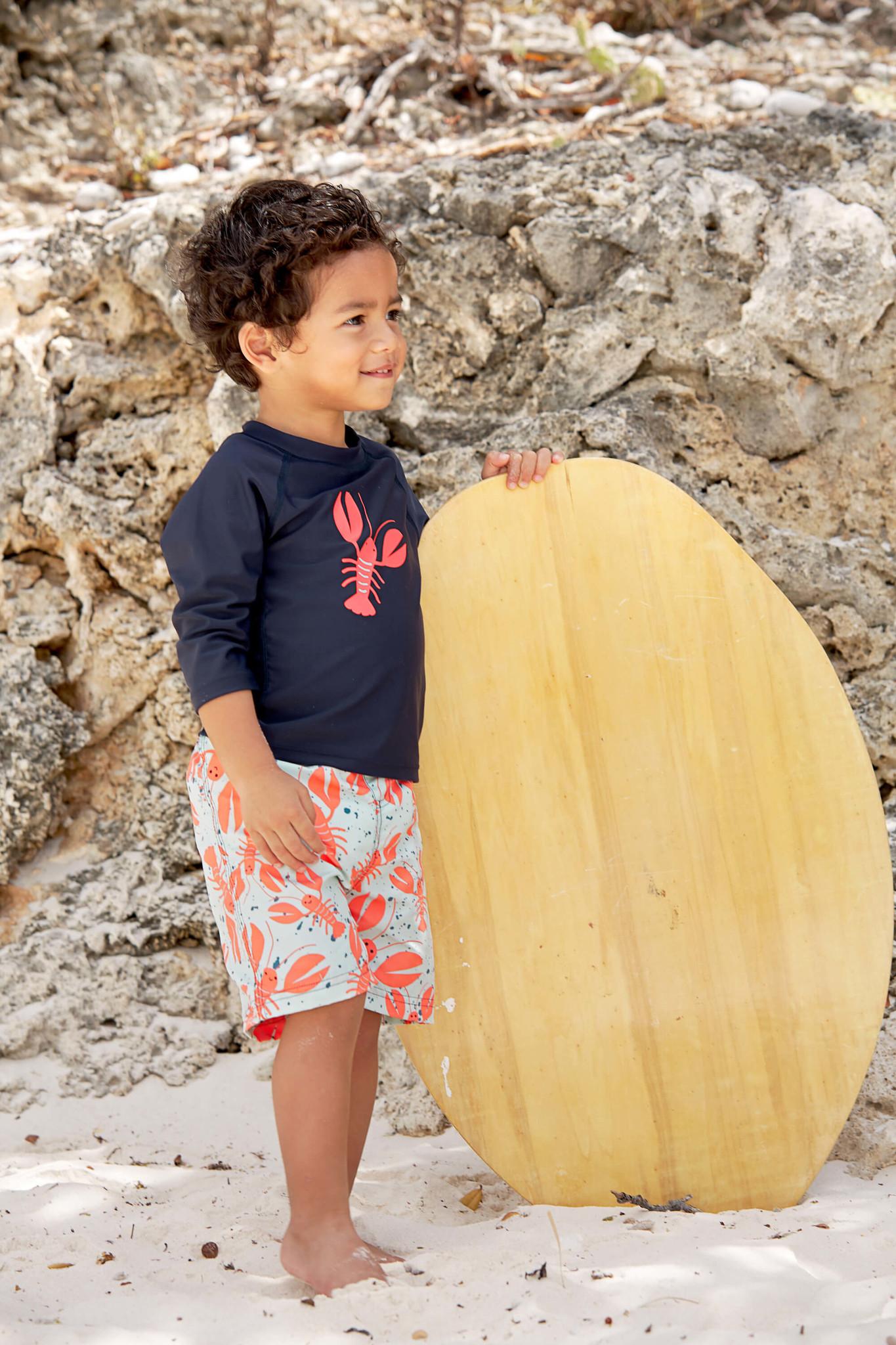 Lässig Lässig Splash & Fun Lange mouw Rashguard / zwemshirt - Lobster 12 maanden
