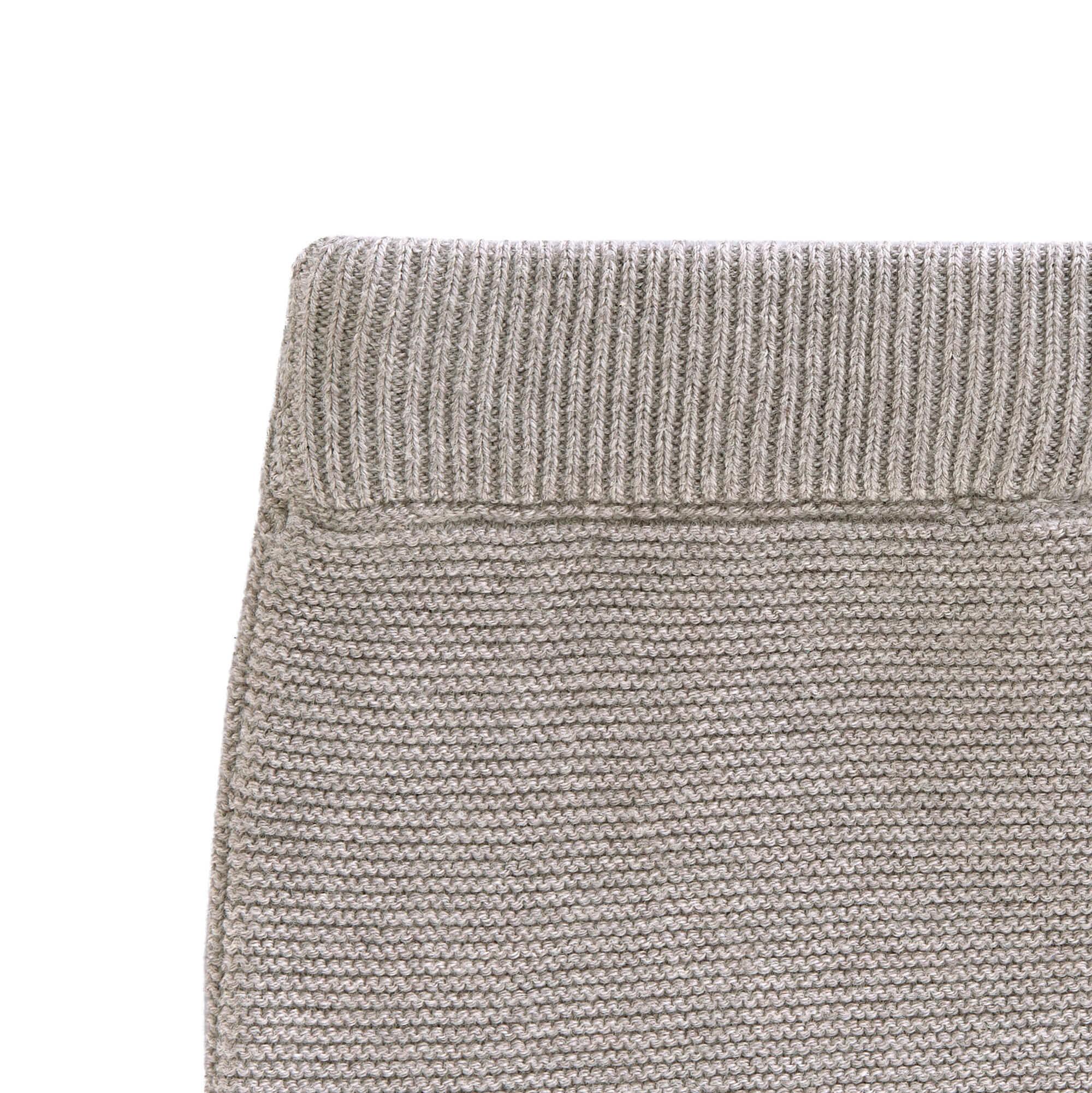 Lässig Lässig gebreide baby broek GOTS Garden Explorer grey 62-68, 2-6 mnd