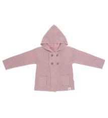 Lässig Lässig Baby gestrickter Hoodie GOTS Garden Explorer hellrosa 62-68 2-6 Monate