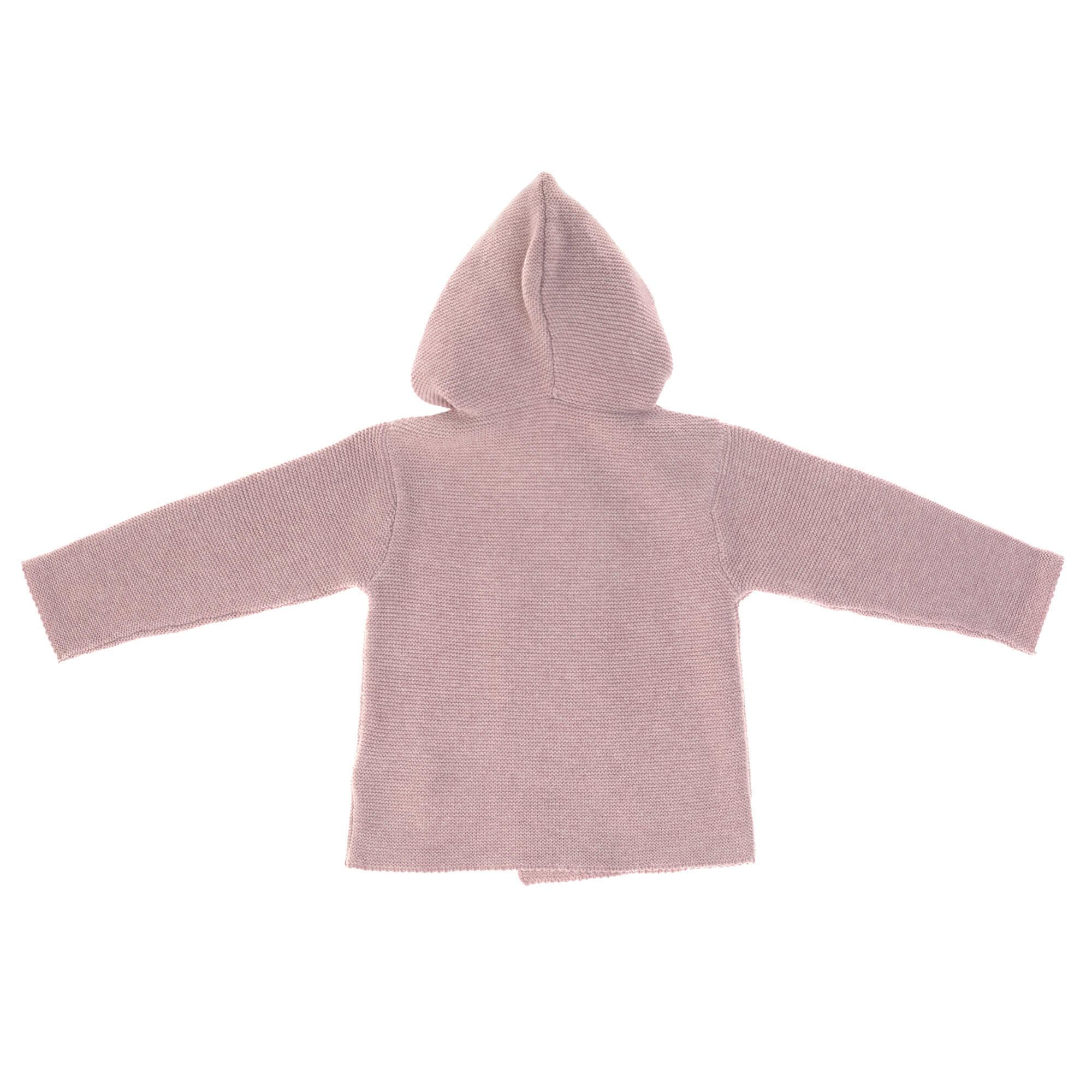 Lässig Lässig baby gebeide Hoodie GOTS Garden Explorer light pink 62-68 2-6 mnd