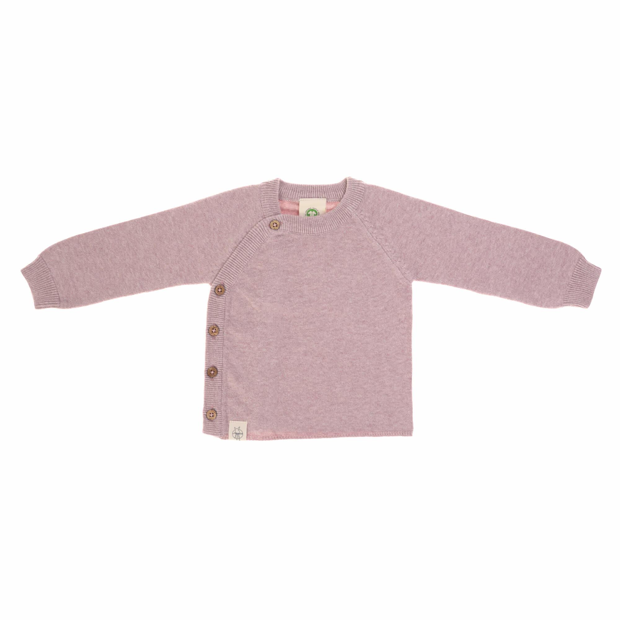 Lässig baby gebreide Kimono GOTS Garden Explorer light pink 62-68 2-6 mnd