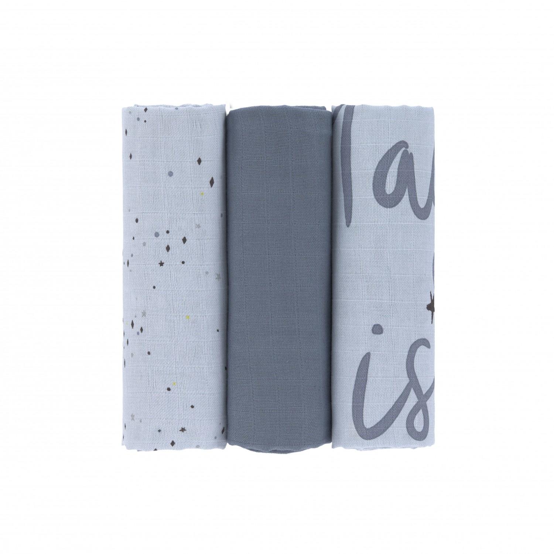 Lässig Lässig Swaddle & Burp Blanket 85x85cm more magic seal 3 stuks