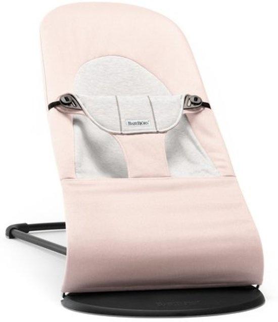 BABYBJÖRN BABYBJÖRN Wipstoeltje Balance Soft Lichtroze-Grijs Cotton-Jersey