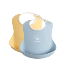 BABYBJÖRN BABYBJÖRN Baby Slabbetje groot duopack Pastelgeel/Pastelblauw