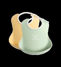 BABYBJÖRN BABYBJÖRN Baby Slabbetje groot duopack Pastelgeel/Pastelgroen