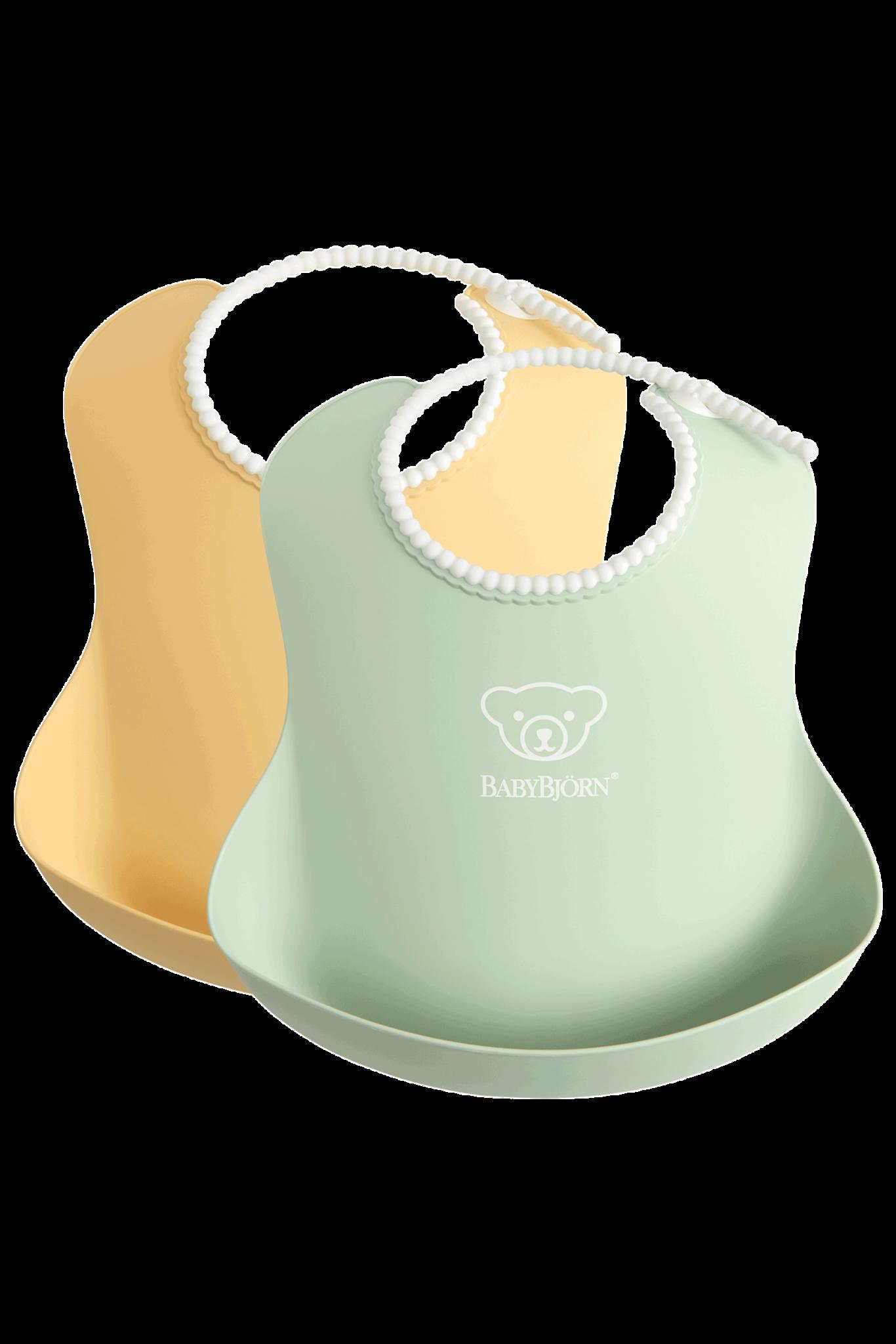 BABYBJÖRN BABYBJÖRN Baby Lätzchen große Duo-Packung Pastellgelb / Pastellgrün