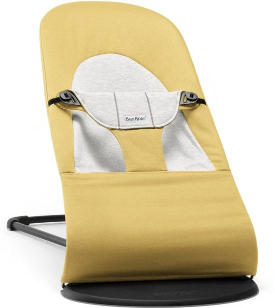 BABYBJÖRN BABYBJÖRN Wipstoeltje Balance Soft Geel/Grijs, Cotton/Jersey