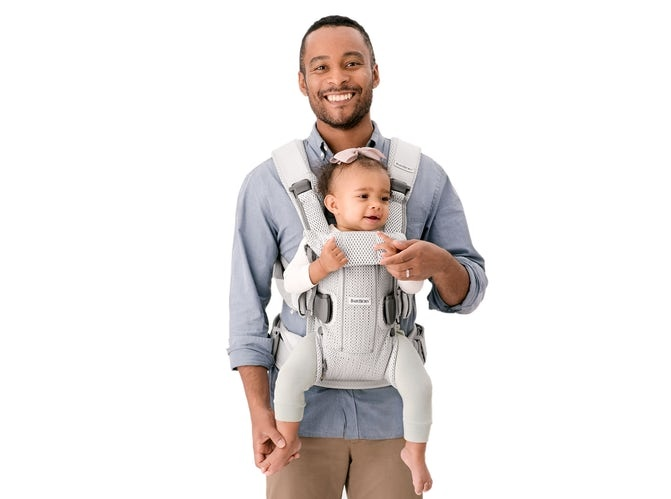 BABYBJÖRN BABYBJÖRN Babytrage One Air  - Silbergewebe