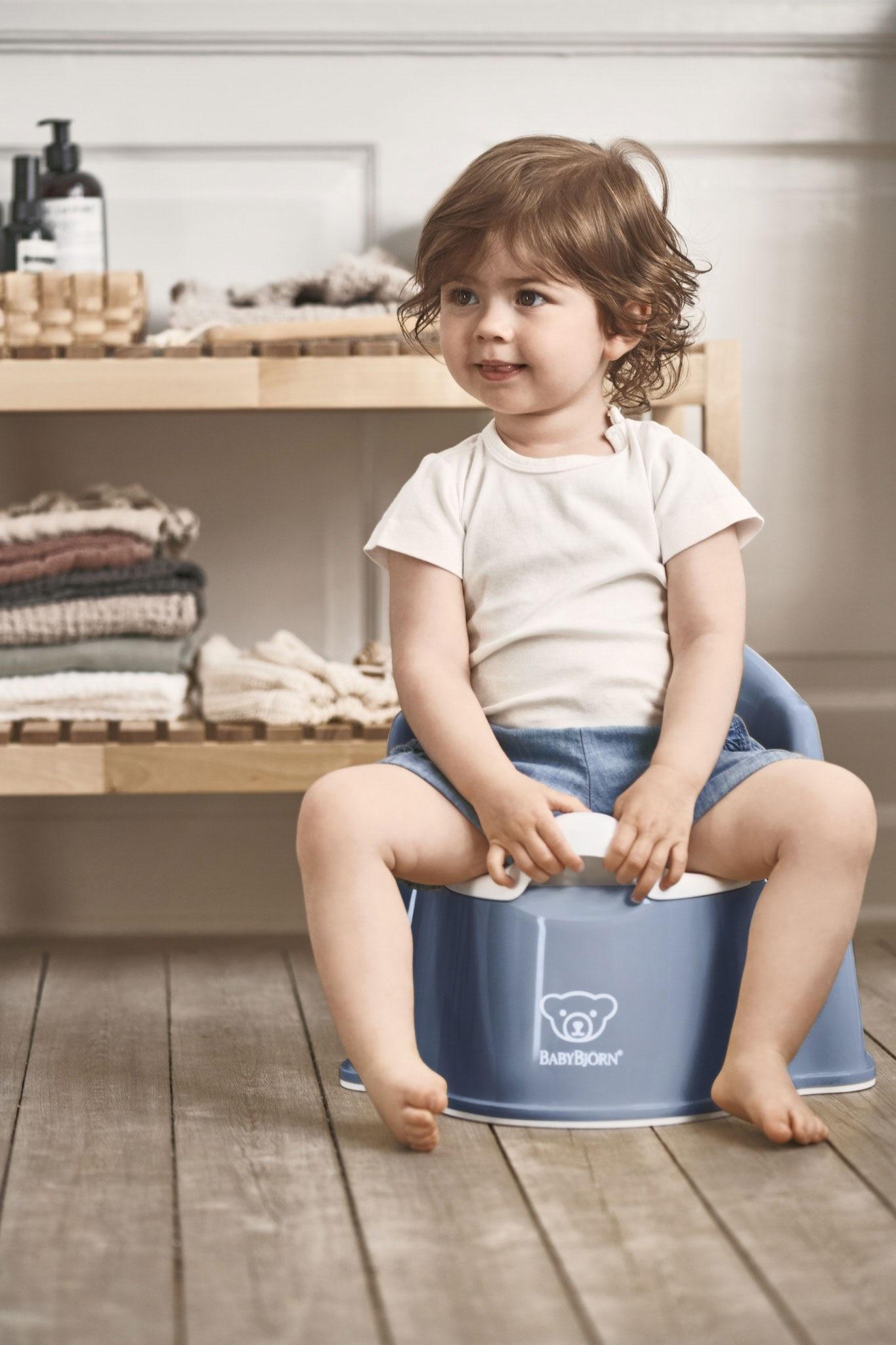 BABYBJÖRN BABYBJÖRN Plaspotje Zetel Diepblauw/Wit