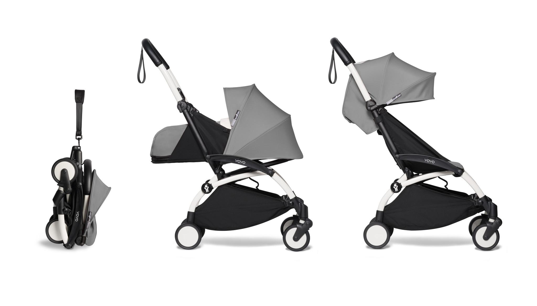 Babyzen Babyzen YOYO² Buggy KOMPLETT / VOLL SET 0+ und 6+ grauer Rahmen weiß