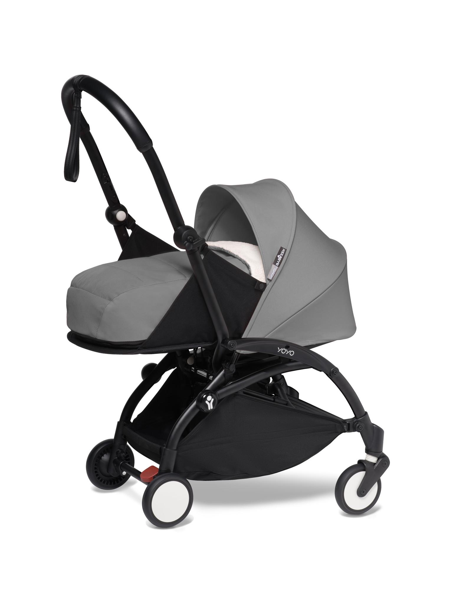 Babyzen Babyzen YOYO² Buggy KOMPLETT / VOLL SET 0+ und 6+ grauer Rahmen schwarz inkl. YOYO² BeSafe Autositz schwarz