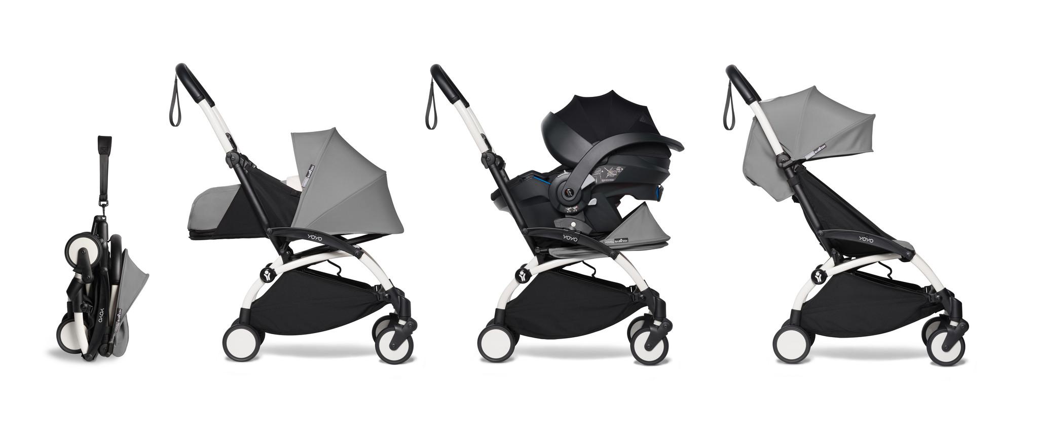 Babyzen Babyzen YOYO² Buggy KOMPLETT / VOLL SET 0+ und 6+ grauer Rahmen weiß inkl. YOYO² BeSafe Autositz schwarz