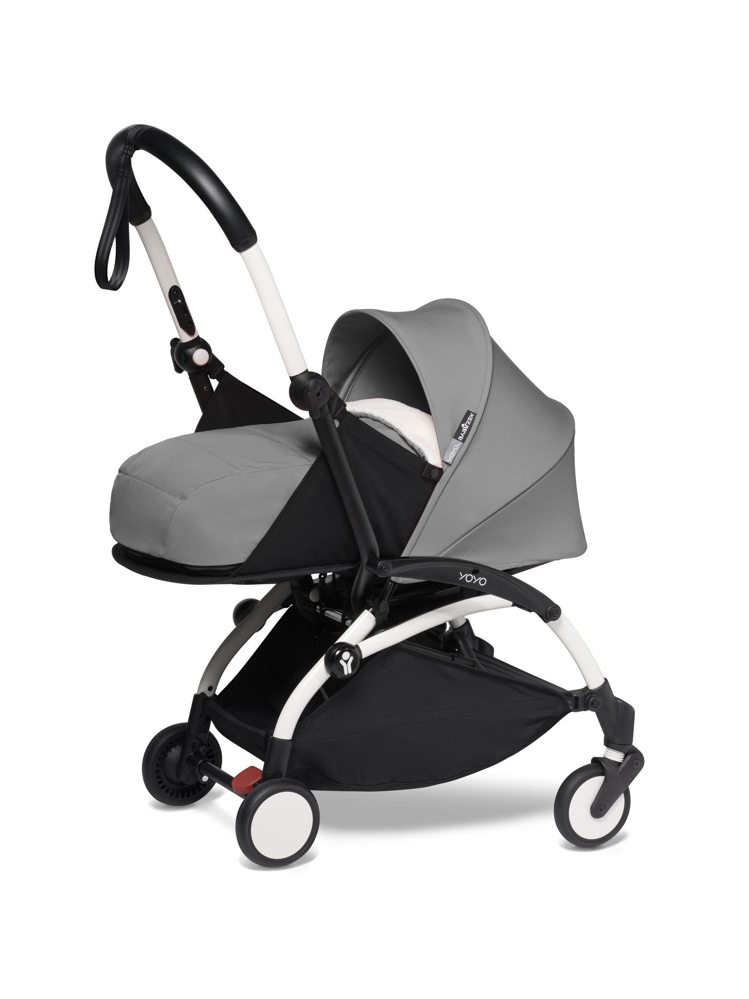 Babyzen Babyzen YOYO² buggy COMPLEET / FULL SET 0+ and 6+ grijs frame wit incl. YOYO² BeSafe autostoel zwart