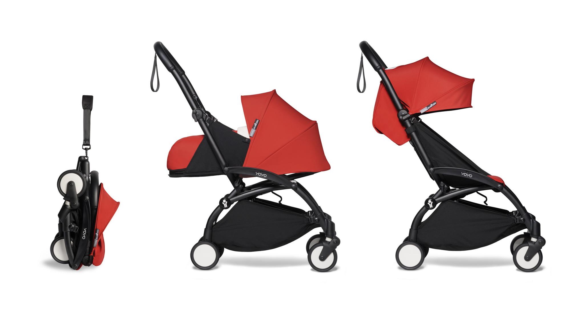 Babyzen YOYO² buggy COMPLEET / FULL SET 0+ and 6+ rood frame zwart