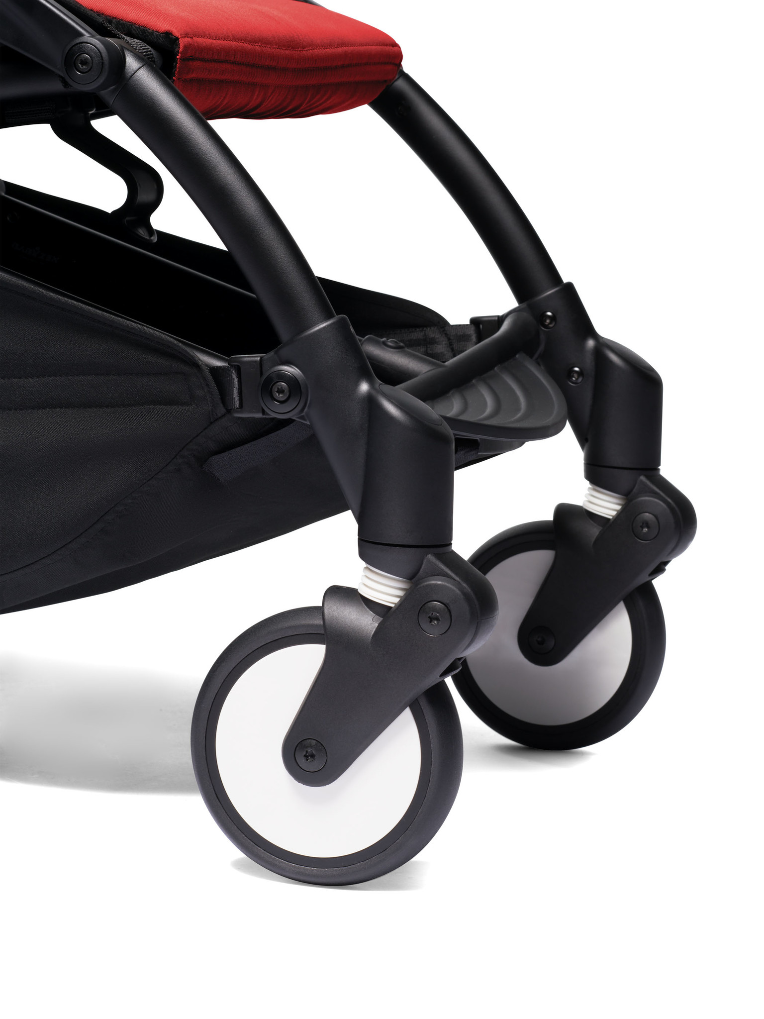 Babyzen Babyzen YOYO² buggy COMPLEET / FULL SET 0+ and 6+ rood frame zwart