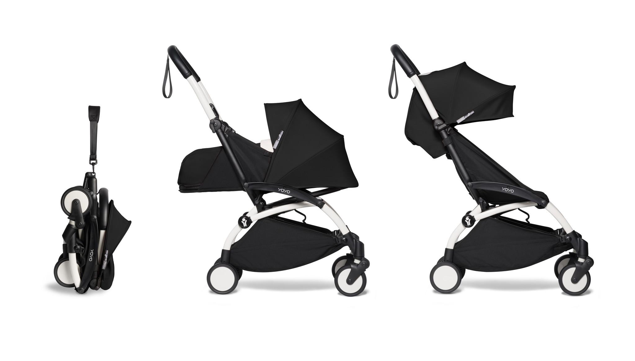Babyzen Babyzen YOYO² Buggy KOMPLETT / VOLL SET 0+ und 6+ schwarz Rahmen weiß