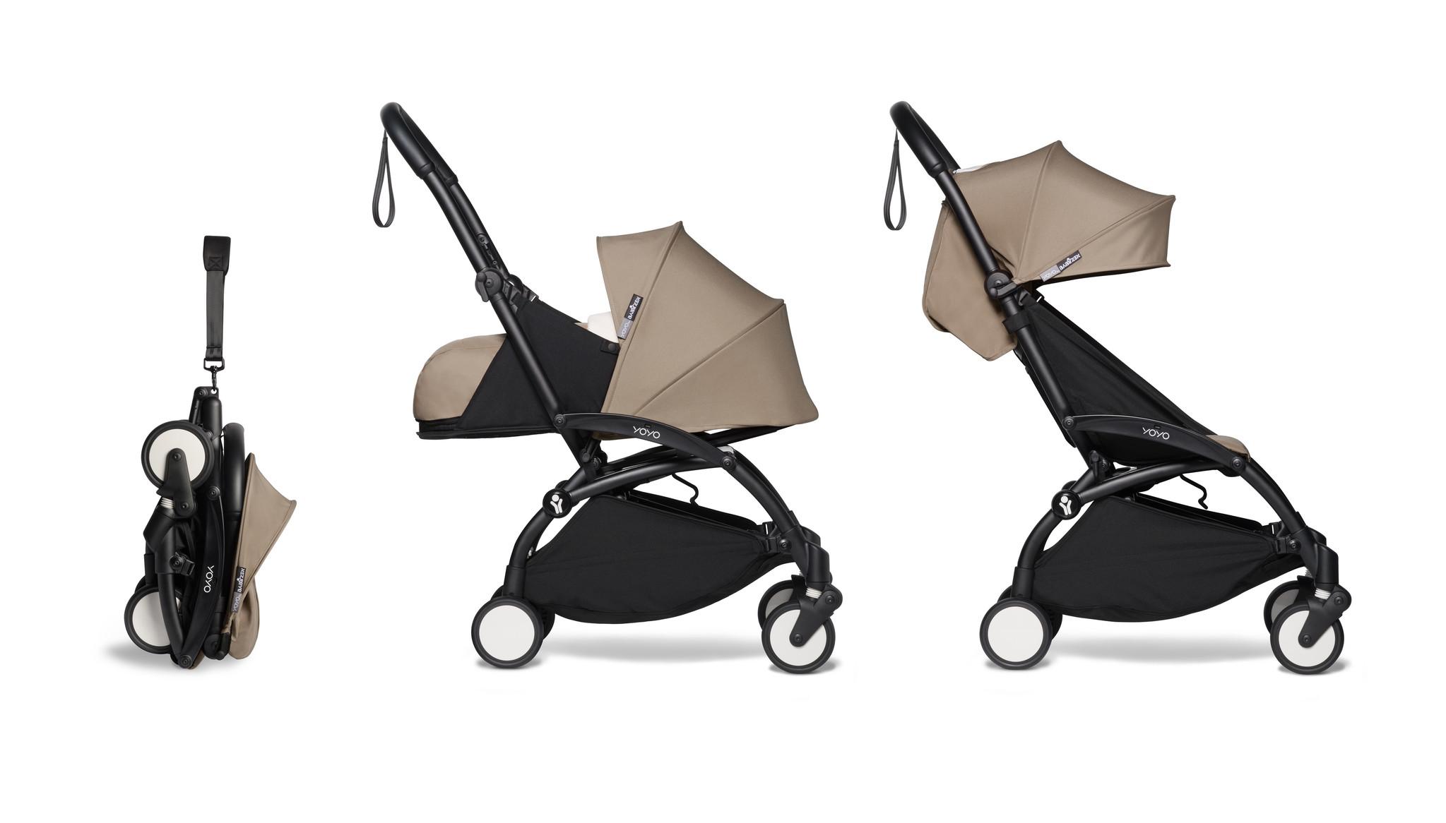 Babyzen Babyzen YOYO² Buggy KOMPLETT / VOLL SET 0+ und 6+ taupe Rahmen schwarz