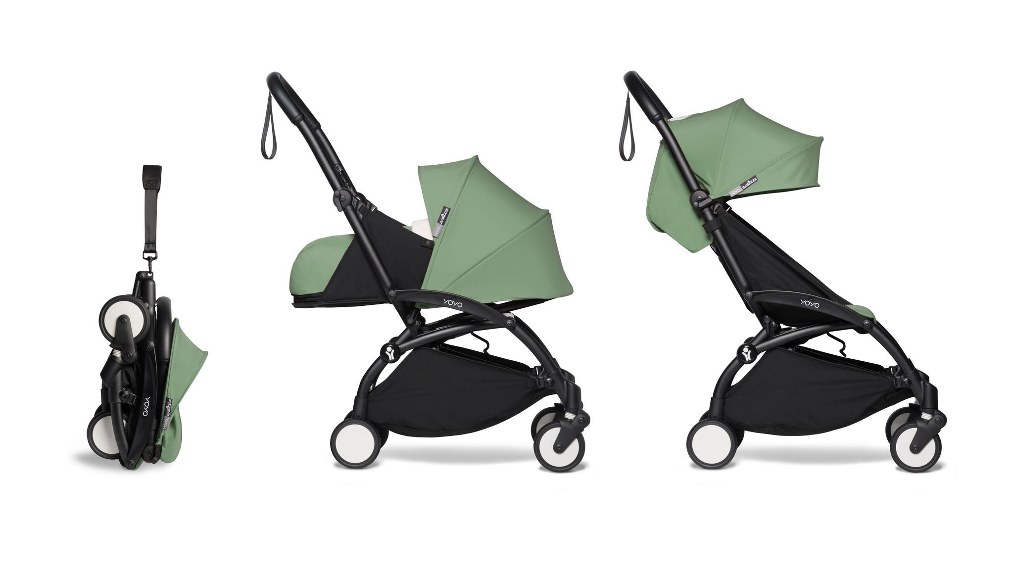 Babyzen Babyzen YOYO² buggy COMPLEET / FULL SET 0+ and 6+ peppermint frame zwart