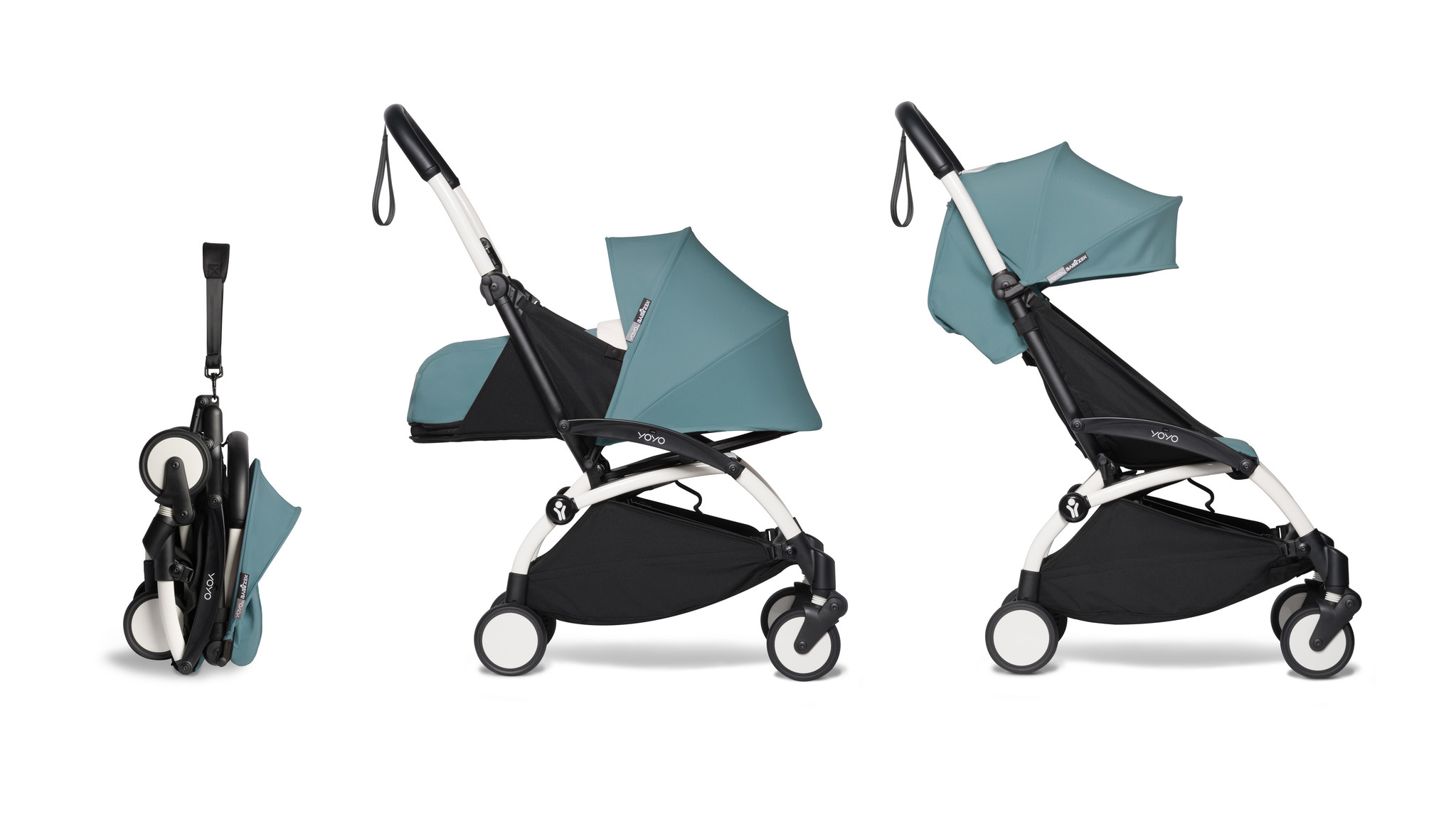 Babyzen Babyzen YOYO² buggy COMPLEET / FULL SET 0+ and 6+ aqua frame wit
