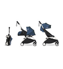 Babyzen Babyzen YOYO² buggy COMPLEET / FULL SET 0+ and 6+ navy AirFrance frame wit