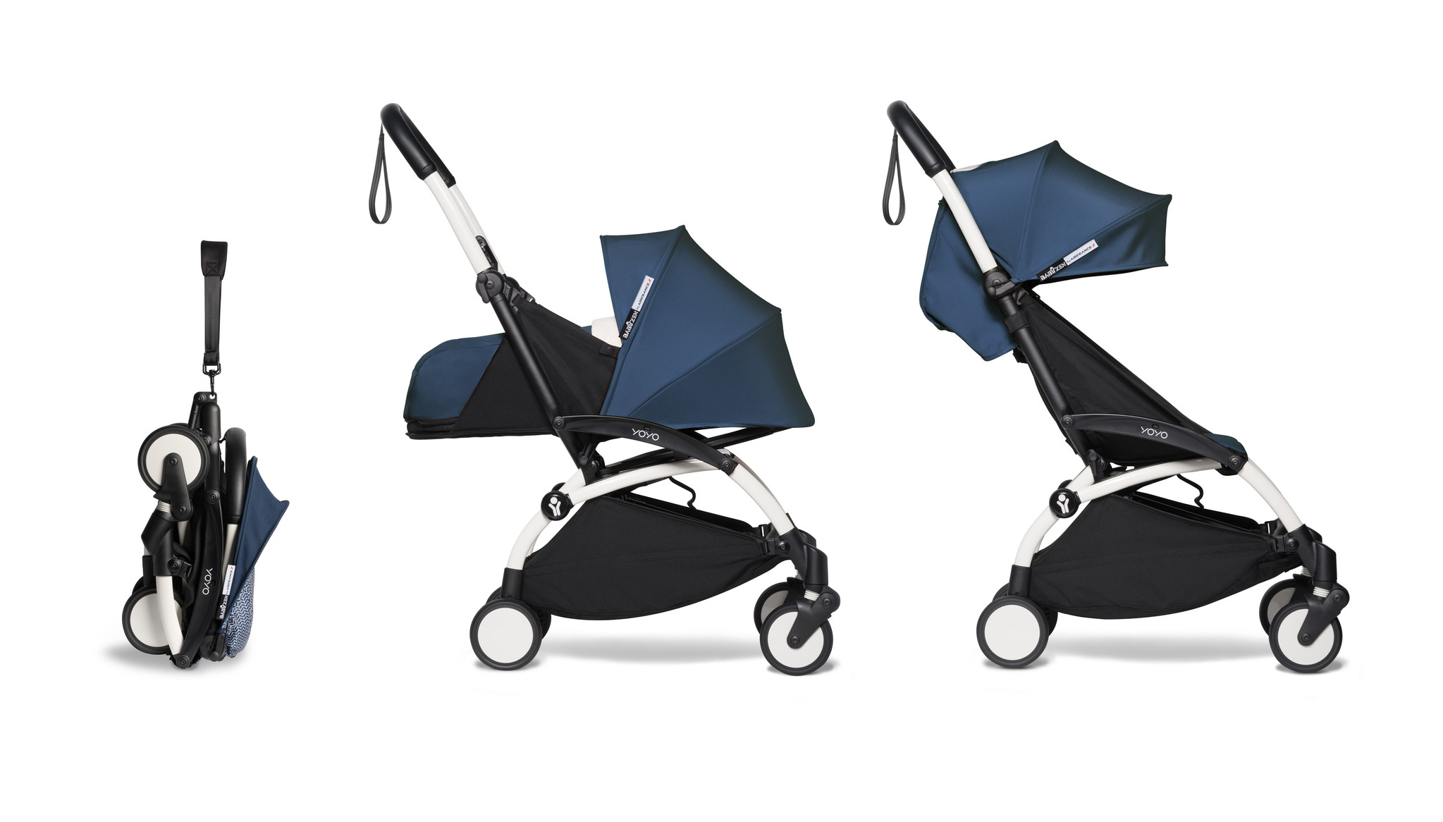 Babyzen YOYO² buggy COMPLEET / FULL SET 0+ and 6+ navy AirFrance frame wit