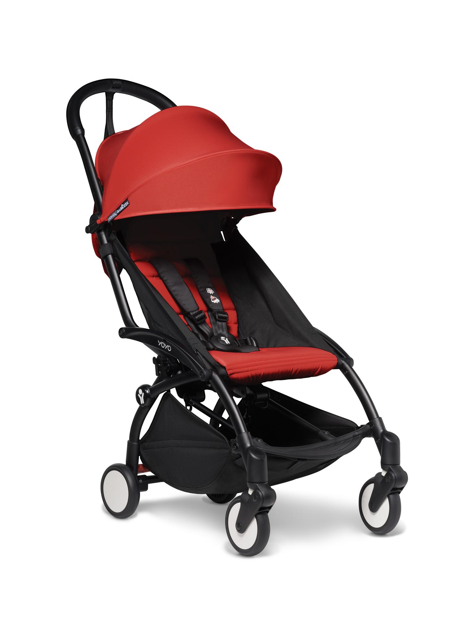 Babyzen Babyzen YOYO² Buggy KOMPLETT / VOLL SET 0+ und 6+ roter Rahmen schwarz inkl. YOYO² BeSafe Autositz schwarz