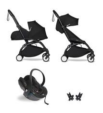 Babyzen Babyzen YOYO² Buggy KOMPLETT / VOLL SET 0+ und 6+ schwarz Rahmen schwarz inkl. YOYO² BeSafe Autositz schwarz