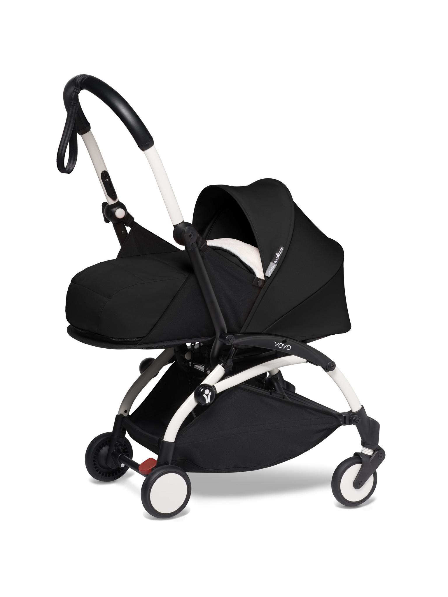 Babyzen Babyzen YOYO² buggy COMPLEET / FULL SET 0+ and 6+ zwart frame wit incl. YOYO² BeSafe autostoel zwart