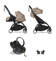 Babyzen Babyzen YOYO² Buggy KOMPLETT / VOLL SET 0+ und 6+ taupe Rahmen schwarz inkl. YOYO² BeSafe Autositz schwarz