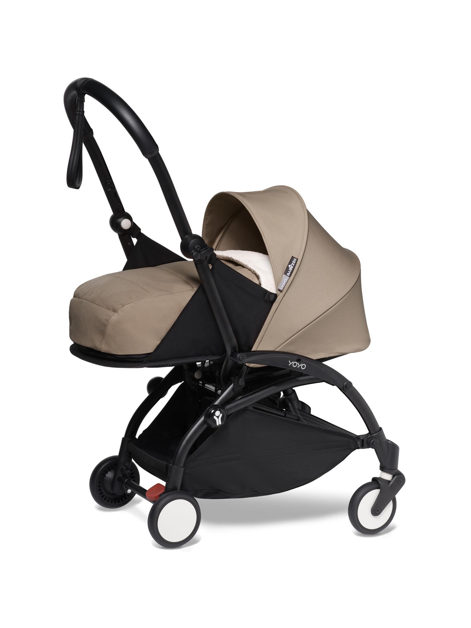 Babyzen Babyzen YOYO² buggy COMPLEET / FULL SET 0+ and 6+ taupe frame zwart incl. YOYO² BeSafe autostoel zwart