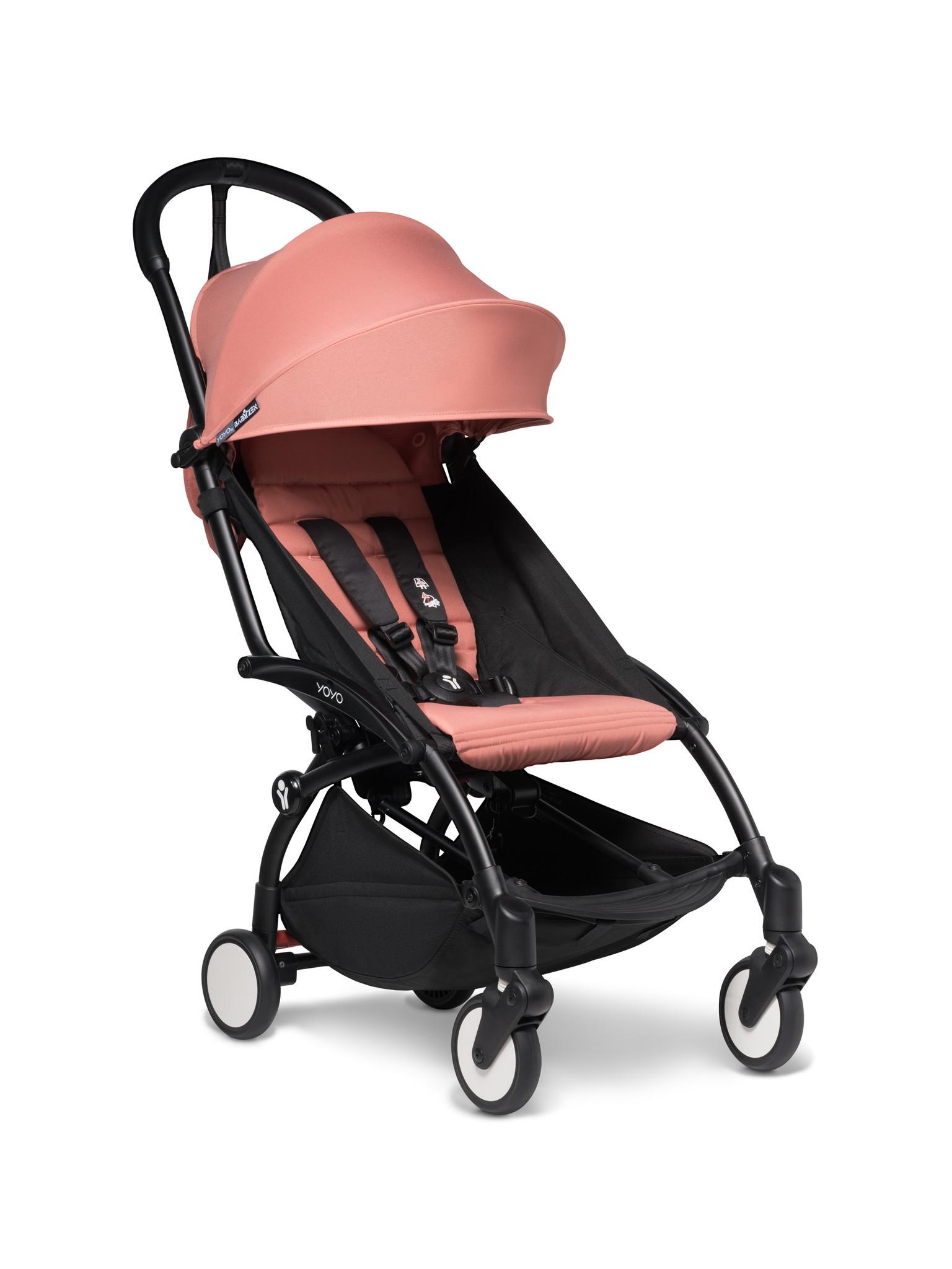 Babyzen Babyzen YOYO² buggy COMPLEET / FULL SET 0+ and 6+ ginger frame zwart incl. YOYO² BeSafe autostoel zwart