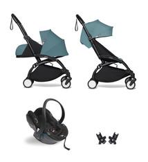 Babyzen Babyzen YOYO² Buggy KOMPLETT / VOLL SET 0+ und 6+ Aquarahmen schwarz inkl. YOYO² BeSafe Autositz schwarz