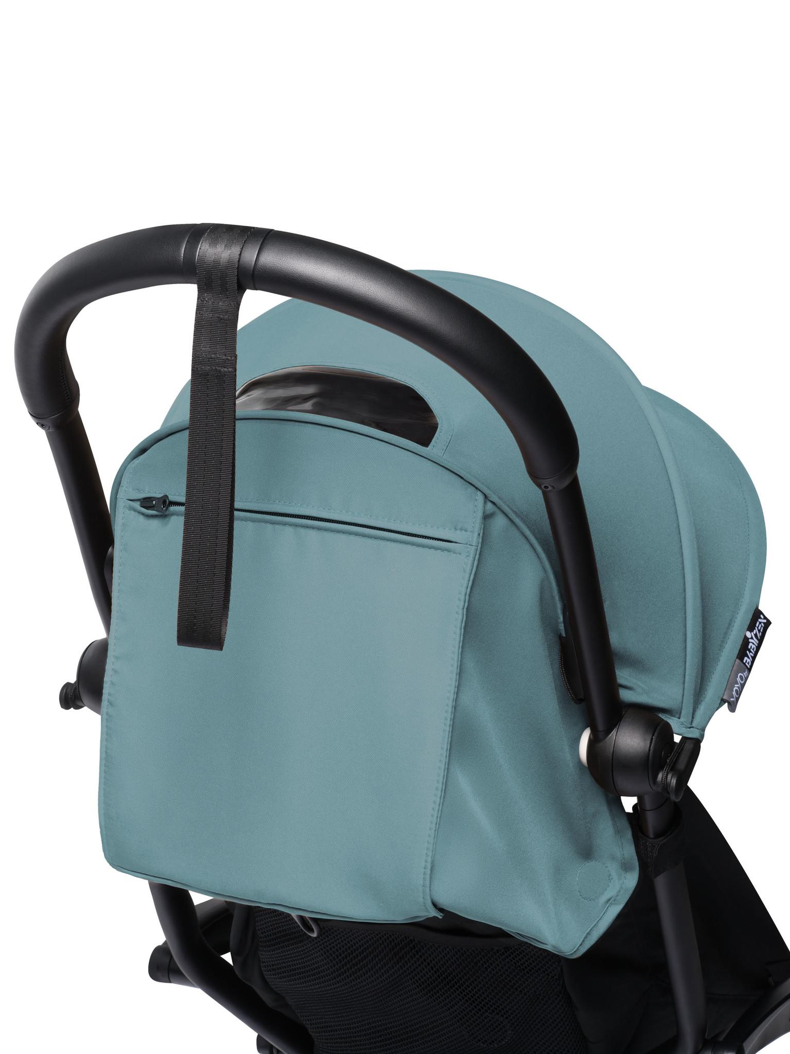 Babyzen Babyzen YOYO² buggy COMPLEET / FULL SET 0+ and 6+ aqua frame zwart incl. YOYO² BeSafe autostoel zwart