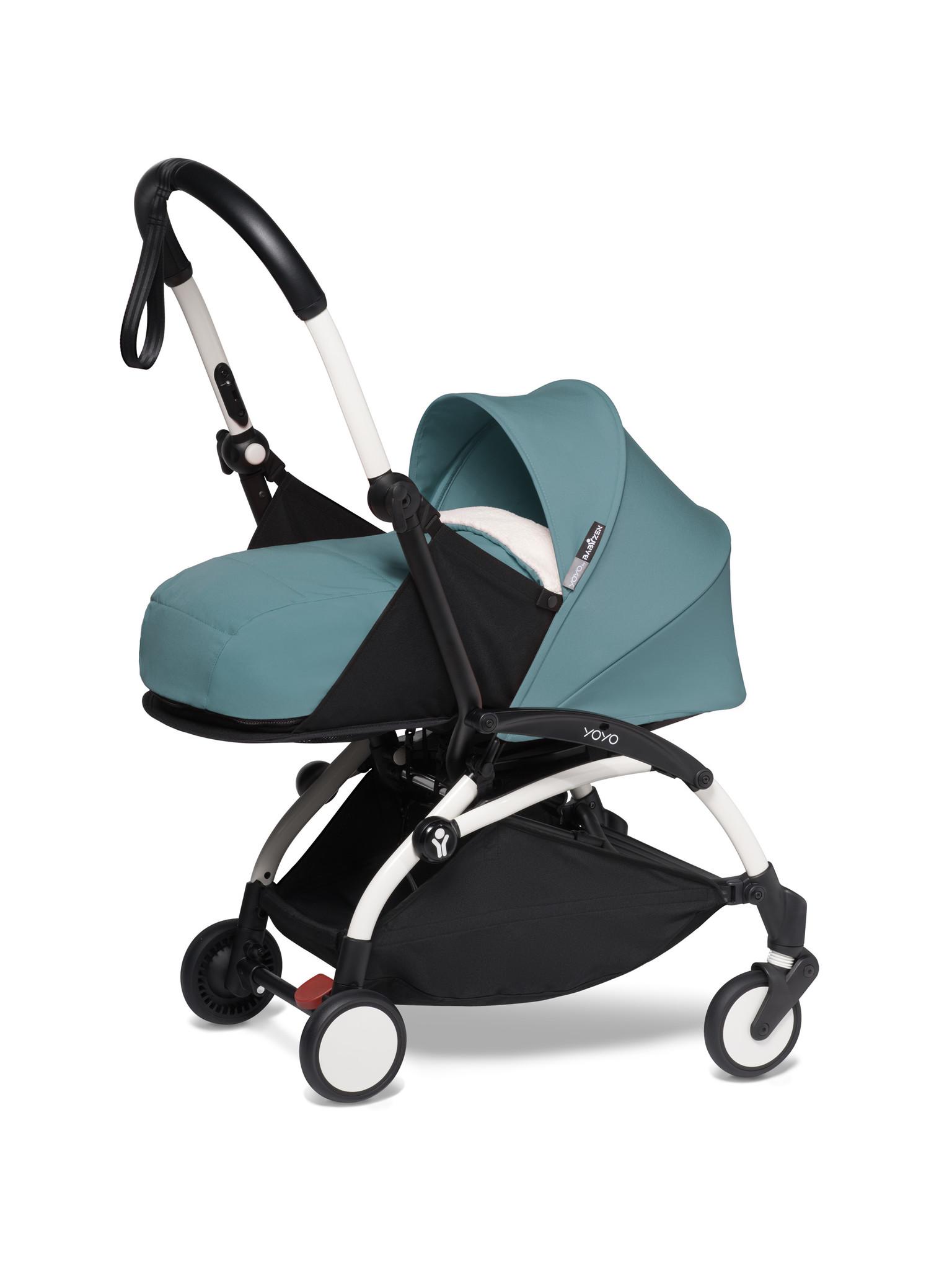 Babyzen Babyzen YOYO² buggy COMPLEET / FULL SET 0+ and 6+ aqua frame wit incl. YOYO² BeSafe autostoel zwart
