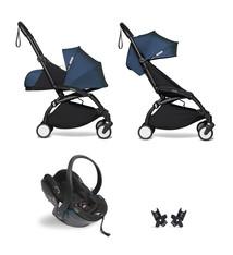 Babyzen Babyzen YOYO² Buggy KOMPLETT / VOLL SET 0+ und 6+ Navy AirFrance Rahmen schwarz inkl. YOYO² BeSafe Autositz schwarz