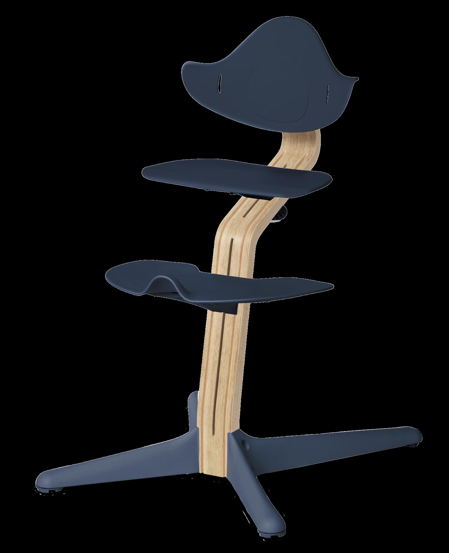 Nomi NOMI highchair meegroeistoel Basis eiken wit oiled en stoel Navy