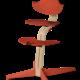 Nomi NOMI highchair meegroeistoel Basis eiken wit oiled en stoel Burned orange